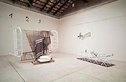 "VENICE, ITALY..June 1993..45th Biennale of Venice.Spanish Pavillion..""Rin-Zen"", 1993 by Antoni Tapies..(Photo by Heimo Aga)"