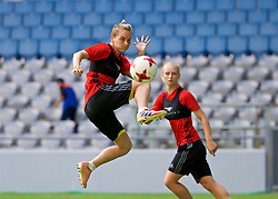 ASTANA, KAZAKHSTAN - Friday, September 15, 2017: Wales' Jessica Fishlock training at the Astana Arena ahead of the FIFA Women's World Cup 2019 Qualifying Round Group 1 match against Kazakhstan. (Pic by David Rawcliffe/Propaganda)