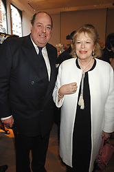 The HON.NICHOLAS SOAMES and LADY ANTONIA FRASER at a party to celebrate the publication of 'Young Stalin' by Simon Sebag-Montefiore at Asprey, New Bond Street, London on 14th May 2007.<br />