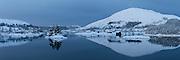 White Christmas at Straumen, Nearby Fosnavåg, Norway| Hvit jul i Straumen, med Reitane og Flusund i venstre kant og Nærøy i høyre kant.
