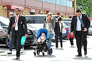 22.MAY.2011. MANCHESTER<br /> <br /> COLEEN ROONEY ARRIVING AT OLD TRAFFORD WITH SON KAI, MUM COLETTE DAD TONY, AND TWO SECURITY GUARDS TO WATCH WAYNE PLAY FOR MAN UTD AGAINST BLACKPOOL.<br /> <br /> BYLINE: EDBIMAGEARCHIVE.COM<br /> <br /> *THIS IMAGE IS STRICTLY FOR UK NEWSPAPERS AND MAGAZINES ONLY*<br /> *FOR WORLD WIDE SALES AND WEB USE PLEASE CONTACT EDBIMAGEARCHIVE - 0208 954 5968*
