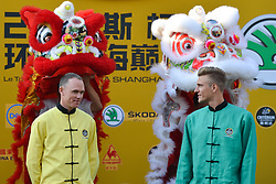 October 28, 2017 - Shanghai, China - (Left-Righ) Christopher FROOME and Marcel KITTEL during Lion Dance performance, at the 1st TDF Shanghai Criterium 2017 - Media Day..On Saturday, 28 October 2017, in Shanghai, China. (Credit Image: © Artur Widak/NurPhoto via ZUMA Press)