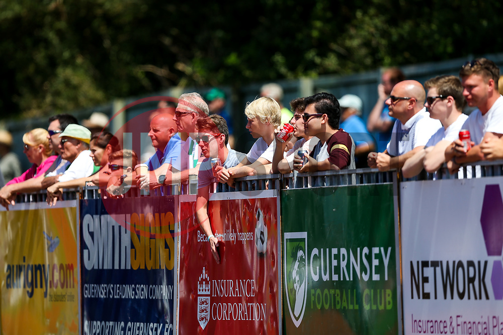 Supporters look on - Rogan/JMP - 08/07/2017 - Footes Lane - Guernsey - Guernsey FC v Bristol City - Pre-season Friendly.