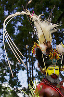 Huli Wigmen from Tari area, Southern Highlands Province..Goroka, Eastern Highlands Province, Papua New Guinea.