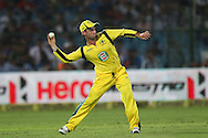 Phillip Hughes of Australia in the field during the 2nd One Day International (ODI) match in the Star Sports Series between India and Australia held at the Sawai Mansingh Stadium in Jaipur on the 16th October 2013<br /> <br /> Photo by Ron Gaunt-BCCI-SPORTZPICS<br /> <br /> Use of this image is subject to the terms and conditions as outlined by the BCCI. These terms can be found by following this link:<br /> <br /> http://sportzpics.photoshelter.com/gallery/BCCI-Image-terms-and-conditions/G00004IIt7eWyCv4/C0000ubZaQCkIRgQ