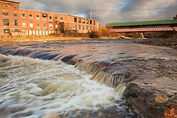 The Ashuelot River in Swanzey, New Hampshire, shortly after the removal of the Homestead Woolen Mill Dam.