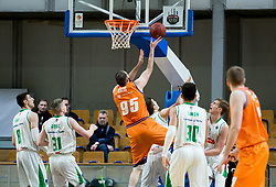 Djoko Salic of Helios Suns during basketball match between KK Petrol Olimpija and KK Helios Suns in Round #9 of Liga Nova KBM 2018/19, on December 14, 2018 in Arena Tivoli, Ljubljana, Slovenia. Photo by Vid Ponikvar / Sportida