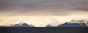 Mountains and glacier panorama, Svalbard -colour