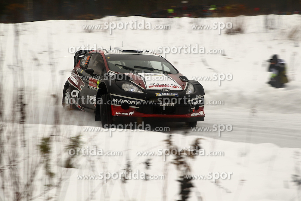 07.02.2014, Hagfors, Karlstad, SWE, FIA, WRC, Schweden Rallye, Tag 3, im Bild Ott Tanak/Raigo Molder (M-Sport WRT/Fiesta RS WRC), Action / Aktion // during Day 3 of the FIA WRC Sweden Rally at the Hagfors in Karlstad, Sweden on 2014/02/07. EXPA Pictures &copy; 2014, PhotoCredit: EXPA/ Eibner-Pressefoto/ Bermel<br /> <br /> *****ATTENTION - OUT of GER*****