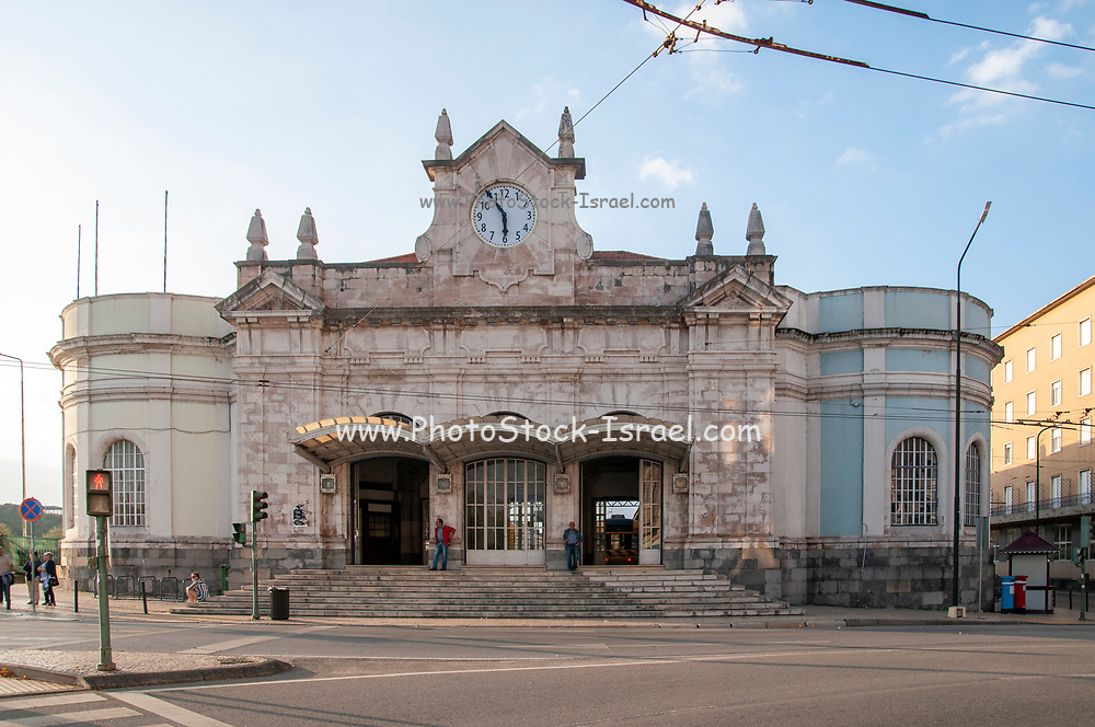 Entrance to the Railway Station building, Coimbra, Portugal