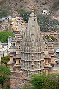 Jagat Shiromani Hindu Krishna Temple, built 11th Century dedicated to Vishnu in Jaipur, Rajasthan, Northern India