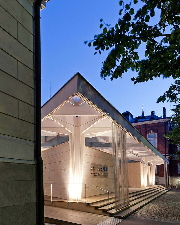 Paviljonki - wooden pavilion for Helsinki world design capital 2012