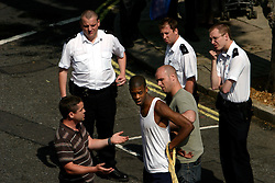 UK ENGLAND LONDON 13JUN06 - Police arrest an unidentified crime suspect on Shirland Road, Maida Vale, West London..jre/Photo by Jiri Rezac..© Jiri Rezac 2006..Contact: +44 (0) 7050 110 417.Mobile:  +44 (0) 7801 337 683.Office:  +44 (0) 20 8968 9635..Email:   jiri@jirirezac.com.Web:    www.jirirezac.com..© All images Jiri Rezac 2006 - All rights reserved.