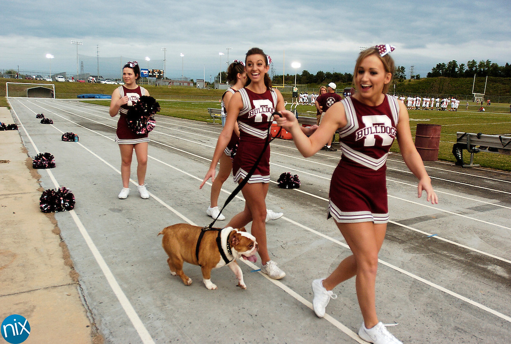 Jay M. Robinson Cheerleaders prior to a game against Nortwest Cabarrus Friday, August 22, 2008. (photo by James Nix)