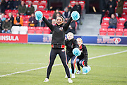 Cheer leaders performing before the EFL Sky Bet League 2 match between Salford City and Macclesfield Town at the Peninsula Stadium, Salford, United Kingdom on 23 November 2019.