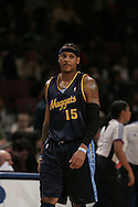 Carmelo Anthony of the the Denver Nuggets during a game against the New York Knicks at Madison Square Garden, New York on Saturday  16 December 2006. (Andrew Gombert for The New York Times)