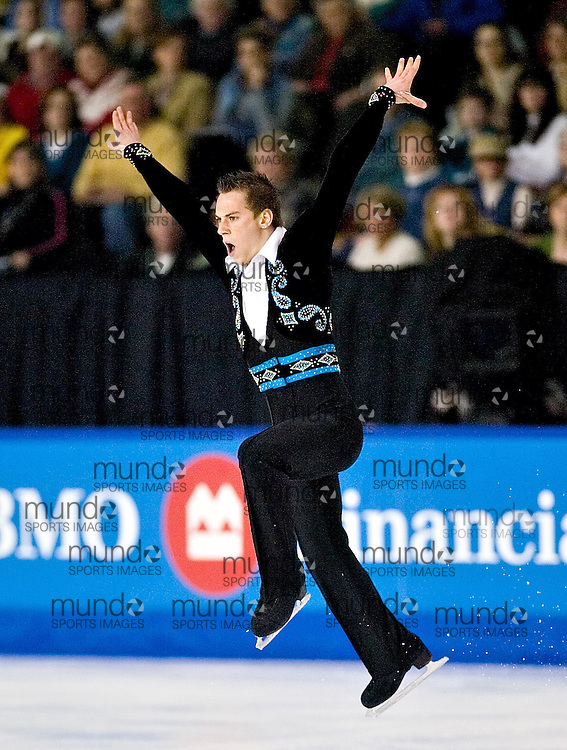 Ottawa, Ontario ---06/1/13--- Shawn Sawyer skates his short program at the Canadian Championships in Ottawa Friday January 13, 2005..GEOFF ROBINS The Ottawa Sun<br />