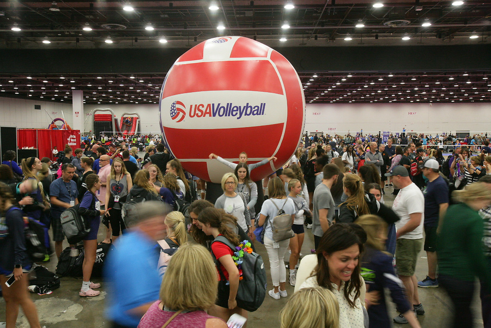 GJNC - July 2018 - Detroit, MI - General scenes from the COBO center - Photo by Wally Nell/Volleyball USA