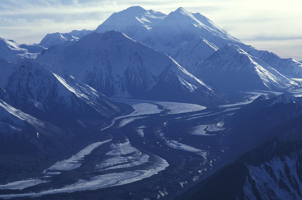 Aerial View.Mount McKinley (Denali).Denali National Park.Alaska.USA