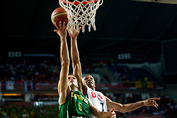 Mantas Kalnietis of Lithuania vs Russel Westbrook of USA during the first semifinal basketball match between National teams of USA and Lithuania at 2010 FIBA World Championships on September 11, 2010 at the Sinan Erdem Dome in Istanbul, Turkey.   (Photo By Vid Ponikvar / Sportida.com)