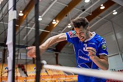 02-10-2016 NED: Supercup Abiant Lycurgus - Coniche Topvolleybal Zwolle, Doetinchem<br /> Lycurgus wint de Supercup door Zwolle met 3-0 te verslaan / Bryan Fraser #3 of Lycurgus