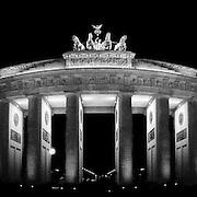 Brandenberg Gate, Berlin, at night.
