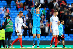 England's Joe Hart thanks the fans at full time - Mandatory byline: Matt McNulty/JMP - 07966386802 - 22/05/2016 - FOOTBALL - Etihad Stadium -Manchester,England - England v Turkey - International Friendly