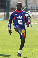 FOOTBALL - MISCS - WORLD CUP 2010 - TIGNES (FRANCE) - FRANCE TEAM TRAINING - 20/05/2010 - PHOTO ERIC BRETAGNON / DPPI - BACARY SAGNA