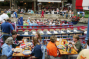 Riverwalk activities in San Antonio, Texas. (Supporting image from the project Hungry Planet: What the World Eats.)