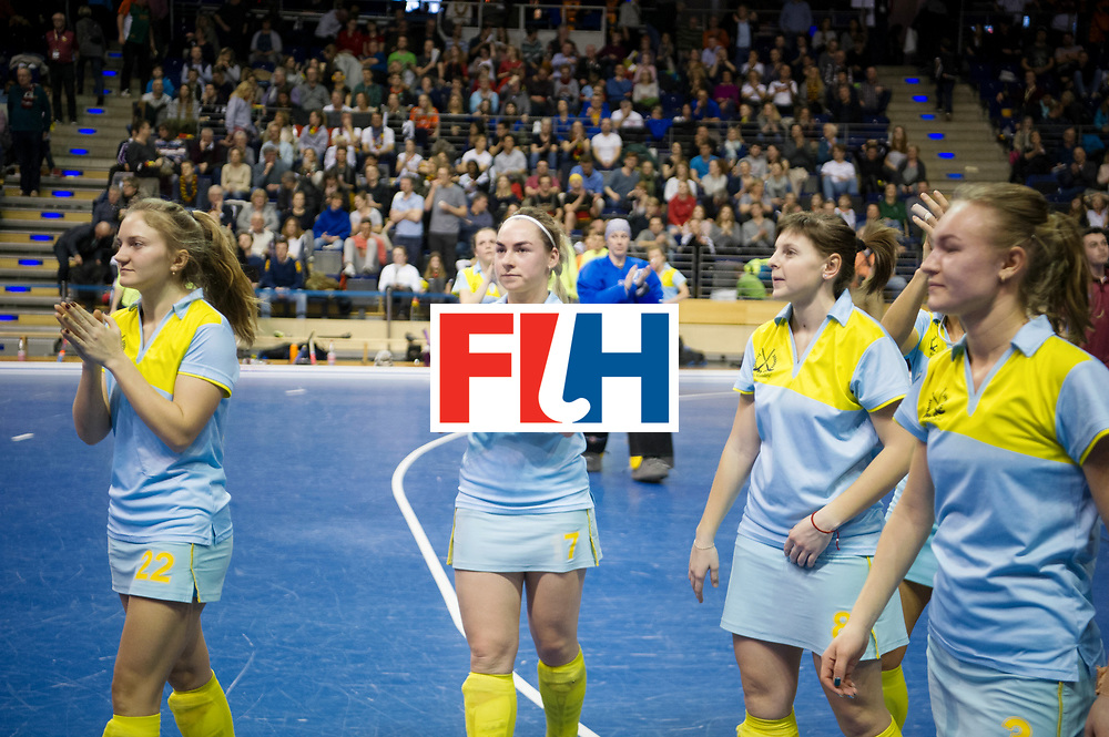 BERLIN - Indoor Hockey World Cup<br /> Semi-final 2: Australia - Austria<br /> foto: Netherlands wins, Ukraine sad.<br /> WORLDSPORTPICS COPYRIGHT FRANK UIJLENBROEK