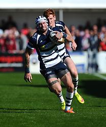 Bristol Rugby Winger Ryan Edwards  - Mandatory byline: Joe Meredith/JMP - 07966386802 - 26/09/2015 - RUGBY - St. Peter -Saint Peter,Jersey - Jersey Rugby v Bristol Rugby - Greene King IPA Championship