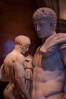 A number of Greek statues from the Louvre, Paris