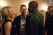 EMILY KING; MATTHEW SLOTOVER;  DAVID ADJAYEOkwui Enwezor and Vinyl Facorty hosted party at Ca'Sagredo, Campo Santa Sofia Venice Biennale, Venice. 5 May 2015