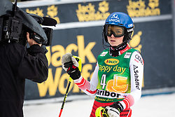 SCHILD Bernadette of Austria reacts upon entering the Finish during the 6th Ladies' Slalom at 55th Golden Fox - Maribor of Audi FIS Ski World Cup 2018/19, on February 2, 2019 in Pohorje, Maribor, Slovenia. Photo by Blaž Weindorfer / Sportida