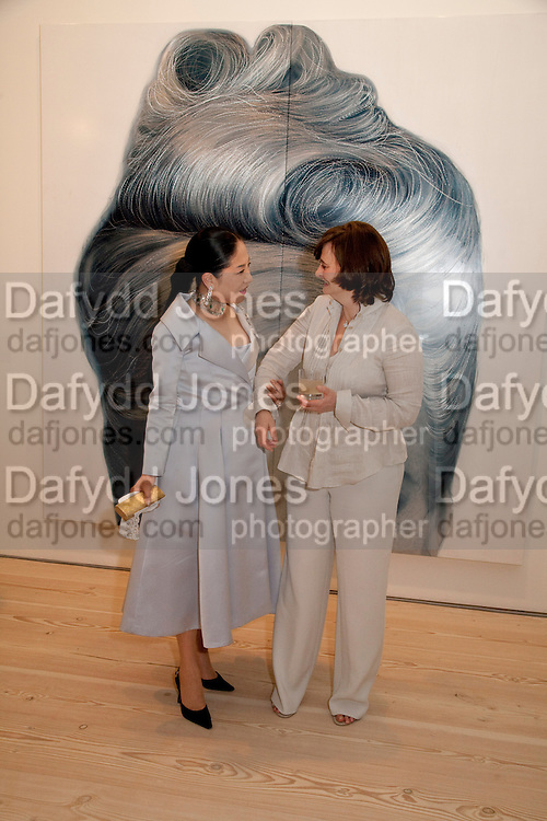 DOWAGER VISCOUNTESS ROTHERMERE; CHERIE BLAIR, Korean Eye Dinner  hosted by The Dowager Viscountess Rothermere and Simon De Pury.Sponsored by CJ, Korean Food Globalization Team, Hino Consulting and Visit Korea Committee. Phillips de Pury Space, Saatchi Gallery.  Sloane Sq. London. 2 July 2009.