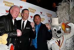 11.01.2014, Ballsaal Berlin Europapark, Rust, GER, 50 Jahre Henry Maske, Roter Teppich zum 50. Geburtstag von Henry Maske, im Bild Graciano Rocchigiani (ehem Boxer, Weltmeister), Henry Maske (ehem Boxer, Weltmeister), Virgil Hill (ehem Boxer, Weltmeister) // during red carpet to 50th Birthday of Henry Maske Ballsaal Berlin Europapark in Rust, Germany on 2014/01/11. EXPA Pictures © 2014, PhotoCredit: EXPA/ Eibner-Pressefoto/ BW-Foto<br /> <br /> *****ATTENTION - OUT of GER*****