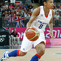 30 July 2012: Edwige Lawson-Wade of France is seen during the 74-70 Team France overtime victory over Team Australia, during the women's basketball preliminary, at the Basketball Arena, in London, Great Britain.