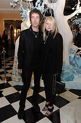 Musician JAY MEHLER and LEE STARKEY daughter of Ringo Starr at the launch of the Claridge's Christmas Tree designed by John Galliano for Dior held at Claridge's, Brook Street, London on 1st December 2009.