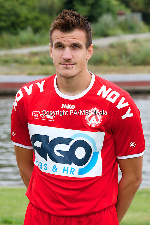 Kortrijk's Ivan Santini poses for the photographer during the 2014-2015 season photo shoot of Belgian first league soccer team KV Kortrijk, Tuesday 08 July 2014 in Kortrijk.