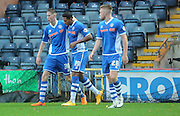 Nathaniel Mendez-Laing Goal during the The FA Cup match between Rochdale and Swindon Town at Spotland, Rochdale, England on 7 November 2015. Photo by Daniel Youngs.