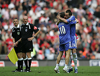 Photo: Lee Earle.<br /> Chelsea v Manchester United. The FA Cup Final. 19/05/2007.Chelsea's John Terry (R) and Joe Cole celebrate at the end of the match.