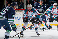 KELOWNA, CANADA - FEBRUARY 13: Rodney Southam #17 of the Kelowna Rockets looks for the pass against the Seattle Thunderbirds  on February 13, 2017 at Prospera Place in Kelowna, British Columbia, Canada.  (Photo by Marissa Baecker/Shoot the Breeze)  *** Local Caption ***