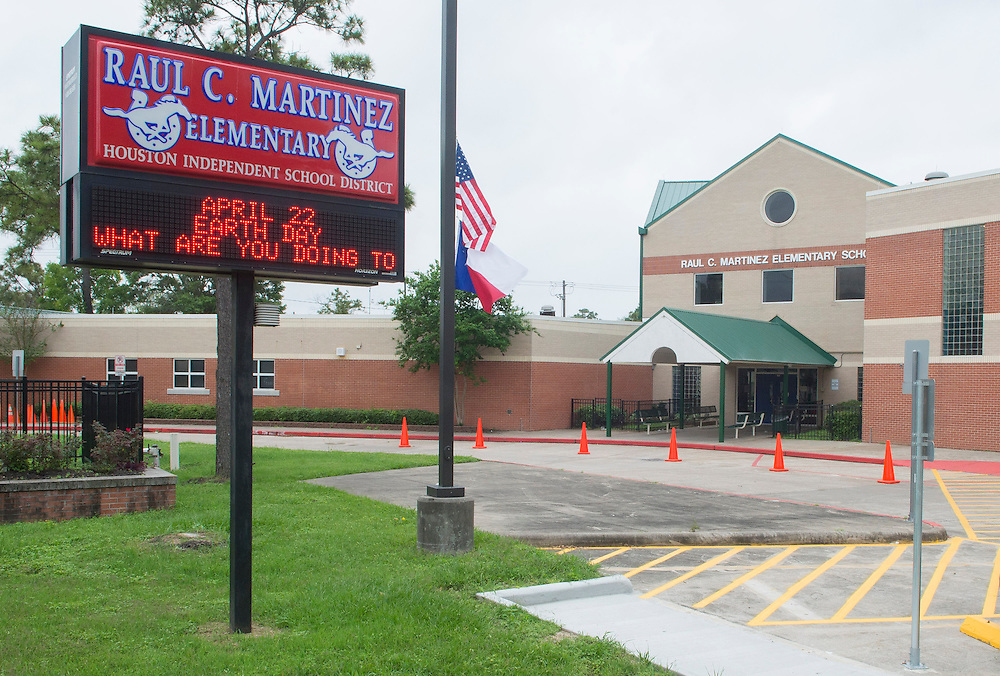 Raul Martinez Elementary, April 18, 2013. The school was part of the 2007 bond.