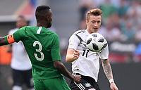 FUSSBALL  INTERNATIONAL TESTSPIEL  IN LEVERKUSEN Deutschland -  Saudi-Arabien              08.06.2018 Osama Hawsawi (li, Saudi-Arabien) gegen Marco Reus (re, Deutschland)