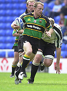 19/05/2002.Sport -Rugby Union- Zurich Championship Quarter final.London Irish v Northampton.Matt Dawson breaking from mid field ..[Mandatory Credit, Peter Spurier/ Intersport Images].