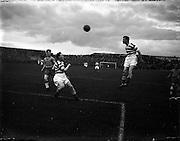 A477 - 1957 Dublin City Cup Final: Drumcondra v Shamrock Rovers at Dalymount Park, Dublin.