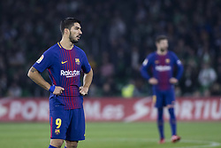 January 21, 2018 - Seville, Spain - LUIS SUAREZ of Barcelona during the La Liga soccer match between Real Betis and FC Barcelona at Benito Villamarin Stadium (Credit Image: © Daniel Gonzalez Acuna via ZUMA Wire)