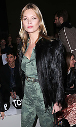 Kate Moss arriving at the Topshop Unique show at London Fashion Week A/W 14,  Sunday, 16th February 2014. Picture by Stephen Lock / i-Images