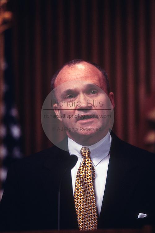 WASHINGTON, DC - September 24: Head of Secret Service Ray Kelly  discussing Drug King Pin Romon Arellano Felix in Washington, DC. September 24, 1997  (Photo RIchard Ellis)