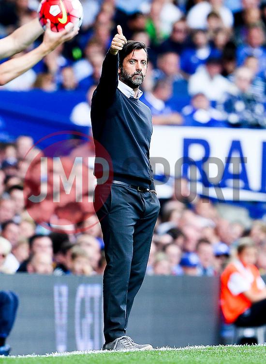Watford Manager, Quique Flores  - Mandatory byline: Matt McNulty/JMP - 07966386802 - 08/08/2015 - FOOTBALL - Goodison Park -Liverpool,England - Everton v Watford - Barclays Premier League